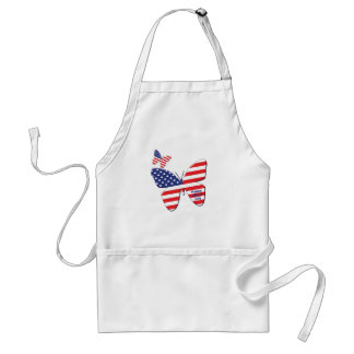 Butterfly flag adult apron