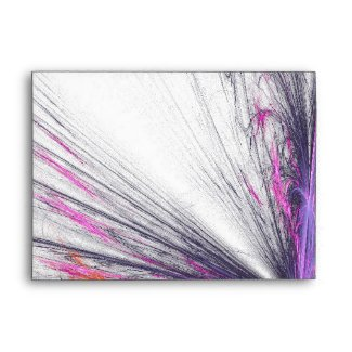 Butterfly Flame Fractal Greeting Envelope