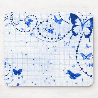 Butterfly Flash Blue Mousepads