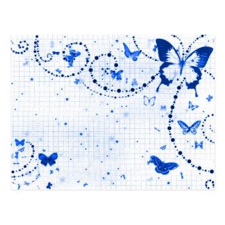 Butterfly Flash Blue Postcard