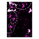 Butterfly Flash Pink Greeting Card
