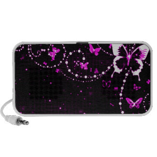 Butterfly Flash Pink Travelling Speaker
