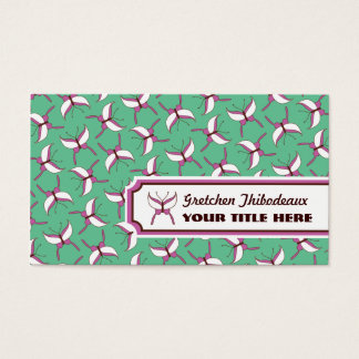 Butterfly Flight Business Cards - Mint Green