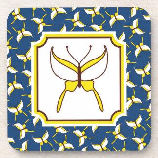 Butterfly Flight Coasters Set - Blue