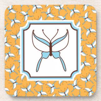 Butterfly Flight Coasters Set - Melon