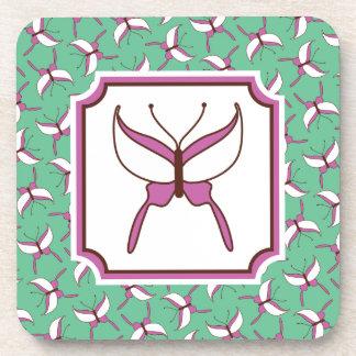Butterfly Flight Coasters Set - Mint Green