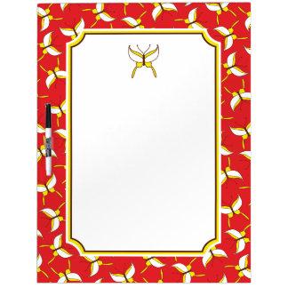 Butterfly Flight Dry Erase Board - Red