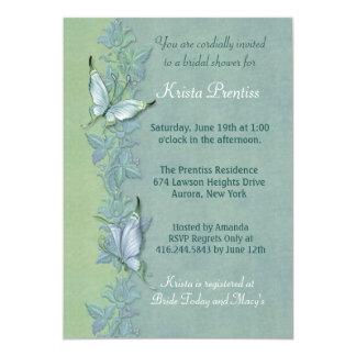 Butterfly Flight Floral Bridal Shower Invitation