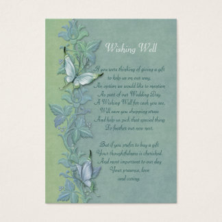 Butterfly Flight FloralWishing Well Card