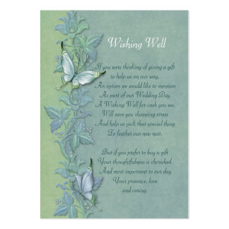 Butterfly Flight FloralWishing Well Card Large Business Cards (Pack Of 100)