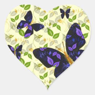 Butterfly Flight Heart Sticker