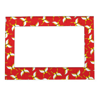 Butterfly Flight Magnetic Frame - Red