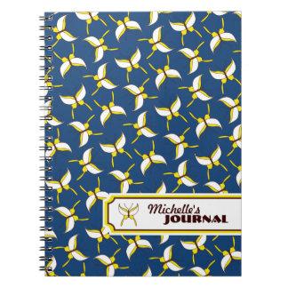 Butterfly Flight Personalized Notebook - Blue