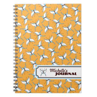Butterfly Flight Personalized Notebook - Melon