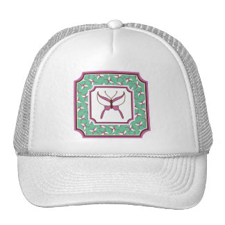 Butterfly Flight Trucker Hat - Mint