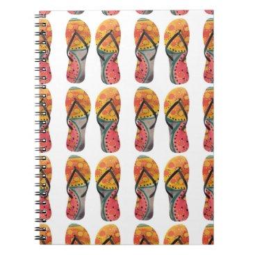 Beach Themed Butterfly - FlipFlops - Notebook