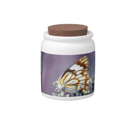 Butterfly Flitter Flutter vintage Candy Jar