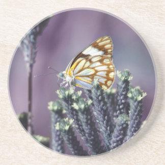 Butterfly Flitter Flutter vintage Beverage Coaster