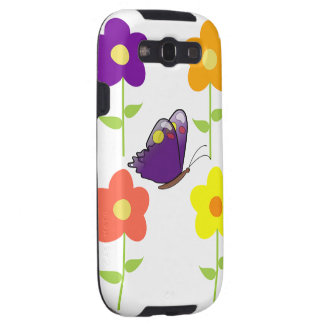 Butterfly Floral Blossoms Destiny Gardens Galaxy S3 Covers