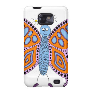 Butterfly Floral Blossoms Destiny Gardens Galaxy S2 Cover