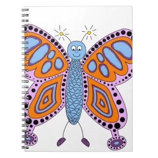 Butterfly Floral Blossoms Destiny Gardens Notebook