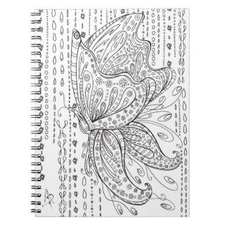 Butterfly Floral Coloring Notebook MADART