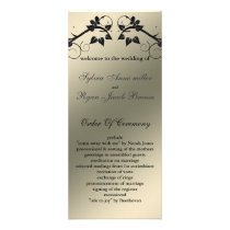butterfly floral ivory black  Wedding program