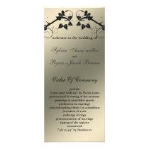 butterfly floral ivory black  Wedding program