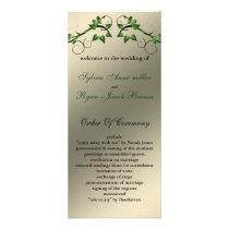 butterfly floral ivory green  Wedding program
