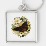 Butterfly Floral Key Chain