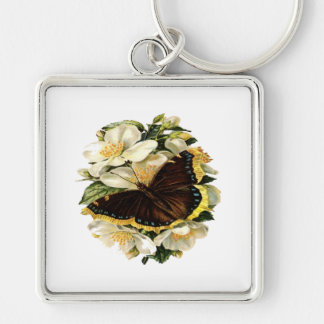 Butterfly Floral Keychain