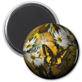 Butterfly Floral Magnet