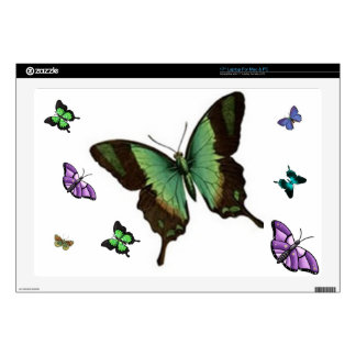 """Butterfly Floral 17"""" Laptop Decals"""