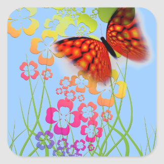 Butterfly Floral Stickers