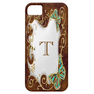 Butterfly floral swirl monogram country iPhone SE/5/5s case