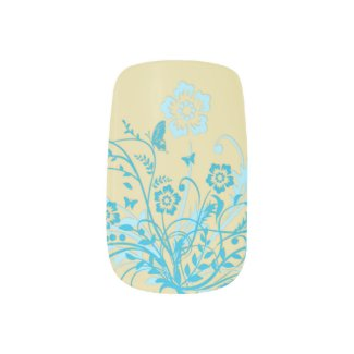 Butterfly Floral Swirl Nail Stickers
