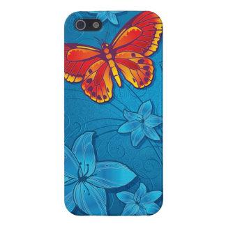Butterfly Flourish Blue iPhone SE/5/5s Case