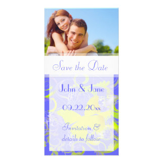 """Butterfly Flourish/photo  """"Save the Date"""" Photo Greeting Card"""