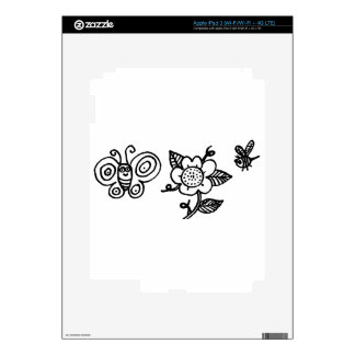 Butterfly Flower and a Bee iPad 3 Skin