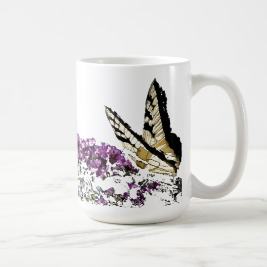 Butterfly Flower Art Mug
