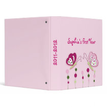 Butterfly Flower Baby Photo Album Scrapbook 3 Ring Binder