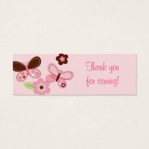 Butterfly Flower Baby Shower Favor Gift Tags
