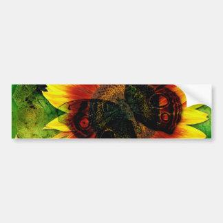 Butterfly Flower Bumper Sticker