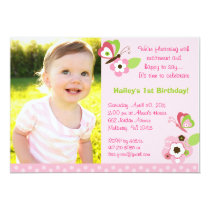 Butterfly Flower Garden Birthday Invitations