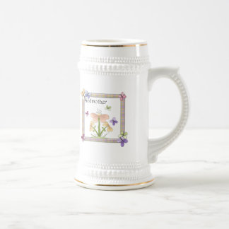 Butterfly Flower Godmother Mothers Day Gifts 18 Oz Beer Stein