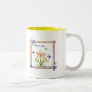 Butterfly Flower Godmother Mothers Day Gifts Two-Tone Coffee Mug