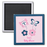 Butterfly Flower Party Favor Magnets