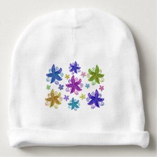 Butterfly Flower Pattern Baby Beanie