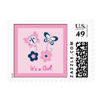 Butterfly Flower Personalized Postage Stamps