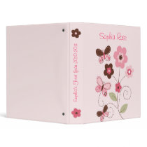 Butterfly Flowers Baby Photo Album Scrapbook Binder
